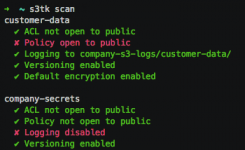 s3tk:用于Amazon S3的安全审核套件