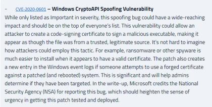 CVE-2020-0601:CryptoAPI.dll椭圆曲线密码(ECC)证书验证绕过漏洞