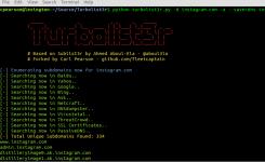 Turbolist3r:子域名发现工具sublist3r的分支,具有资源信息收集功能和子域名发现的自动分析功能。