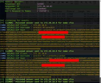 修复Responder实现的SMBv1&SMBv2的问题:使其与网络使用客户端的多个Hash捕获兼容,并修复了SMBv2实现的现有bug。