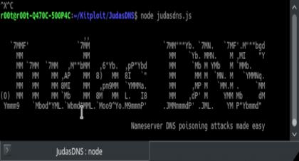 安全测试工具JudasDNS:DNS域名服务器测试,可在目标域名服务器上执行DNS投毒攻击测试,确保域名服务器的安全性。